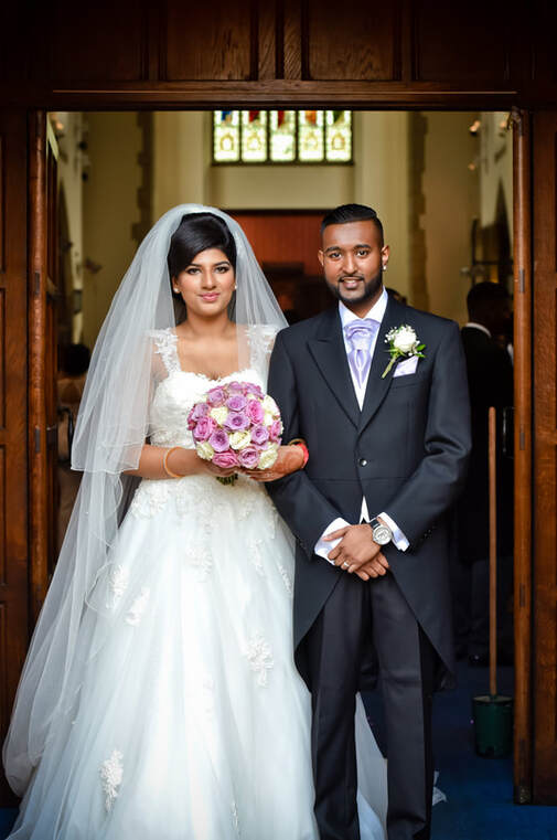 couple after their english wedding